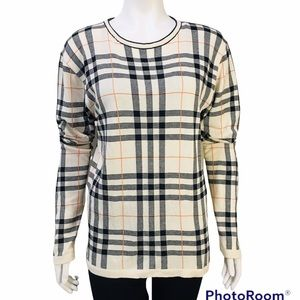 BURBERRY LONDON MADE IN ITALY PULLOVER SIZE S